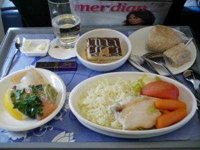 aerosvit dniproavia business class food b737 european routes