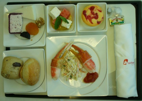 airberlin business class food catering drink