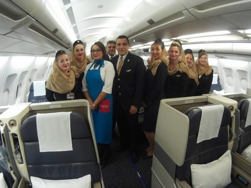 gulf air business class crew falcon gold class uniform